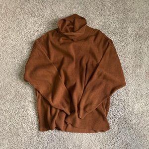 Oversized turtleneck sweater Ochre/burnt orange